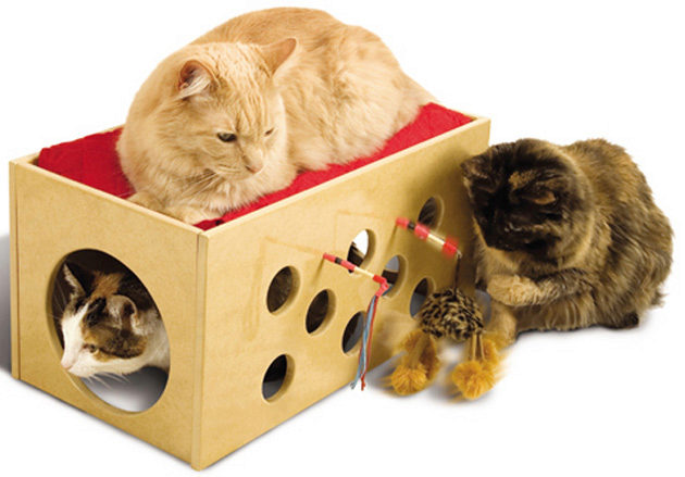 самодельный домик для кошек из фанеры