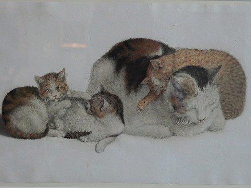 Готфрид Минд картина кошки